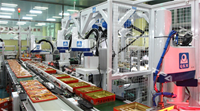 Fully automated moon cake packaging line